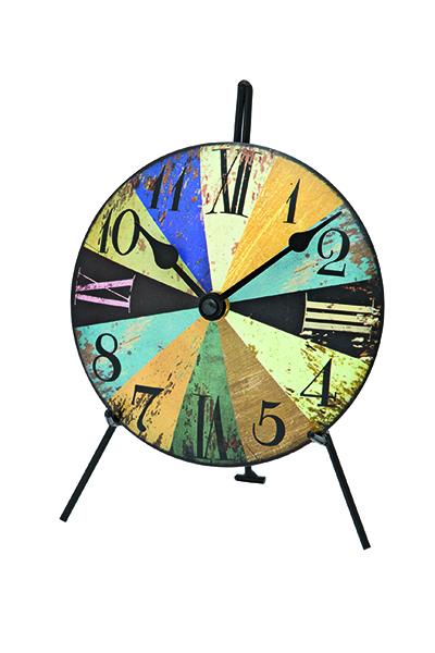 おしゃれなアンティーク調デザイン置き時計。AMS1164