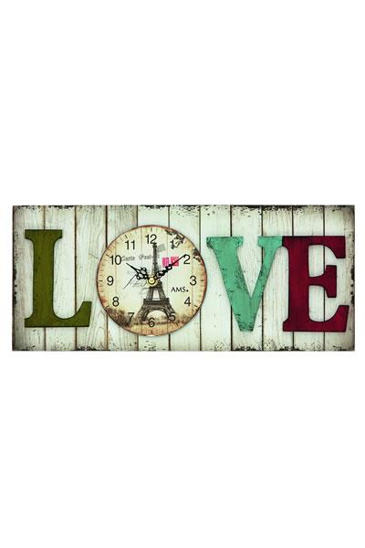おしゃれなカントリー調インテリア掛け時計(LOVE)。AMS9429