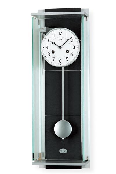 ドイツAMS高級柱掛け時計 (ブラック)