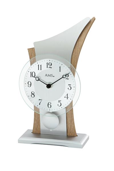 スタイリッシュなデザイン置き時計。AMS1139