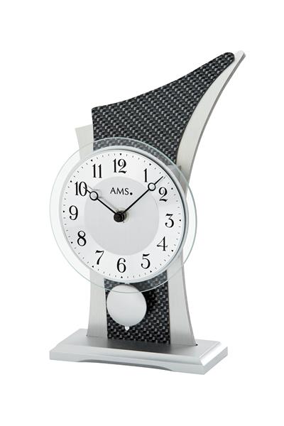 スタイリッシュなデザイン置き時計。AMS1140