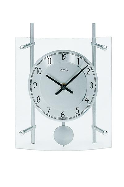 シンプルなデザイン置き時計(シルバー)AMS135