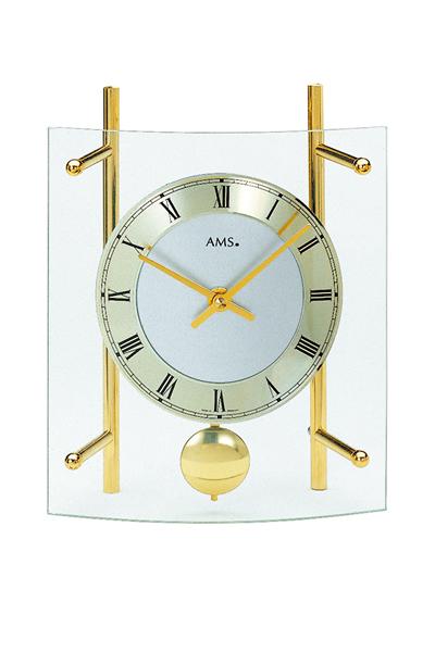 シンプルなデザイン置き時計(ゴールド)AMS137