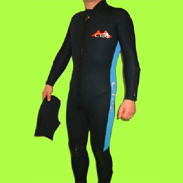 【特価】クロッツ ダイビング 2点セット メンズ(フルスーツ/ダイブフード) 3.5mm W/J フロントファスナー