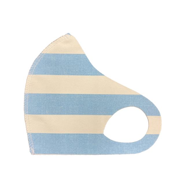 クロッツ マスク カラー/ ボーダーブルー (1枚入り/色柄系)