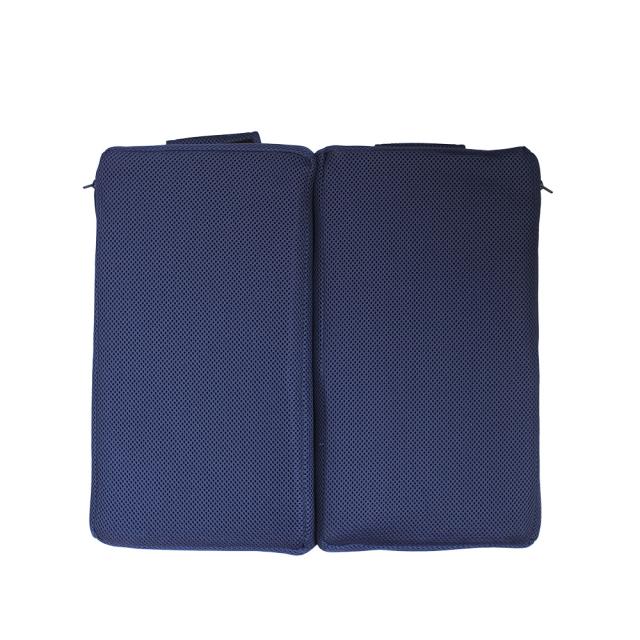 クロッツ エア クリスタルPE 車椅子クッション 座部 二つ折り 390×370×35mm