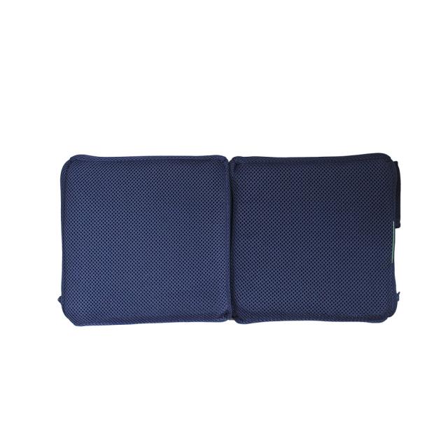 クロッツ エア クリスタルPE 車椅子クッション 背部 二つ折り 390×190×35mm