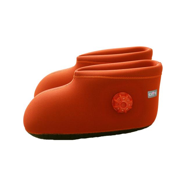 クロッツ やわらか湯たんぽ 足用ショートタイプ オレンジ (限定色)