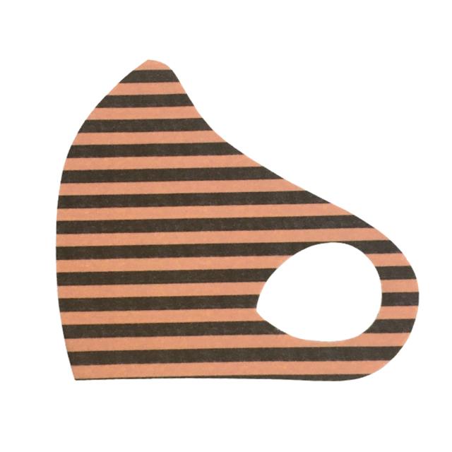 クロッツ マスク カラー/033 ボーダーピンクブラウン (1枚入り/色柄系)