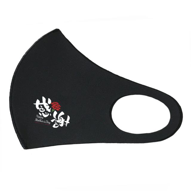 クロッツ マスク ナノシルバー 母の日イラストBタイプ 2種類入り ブラック