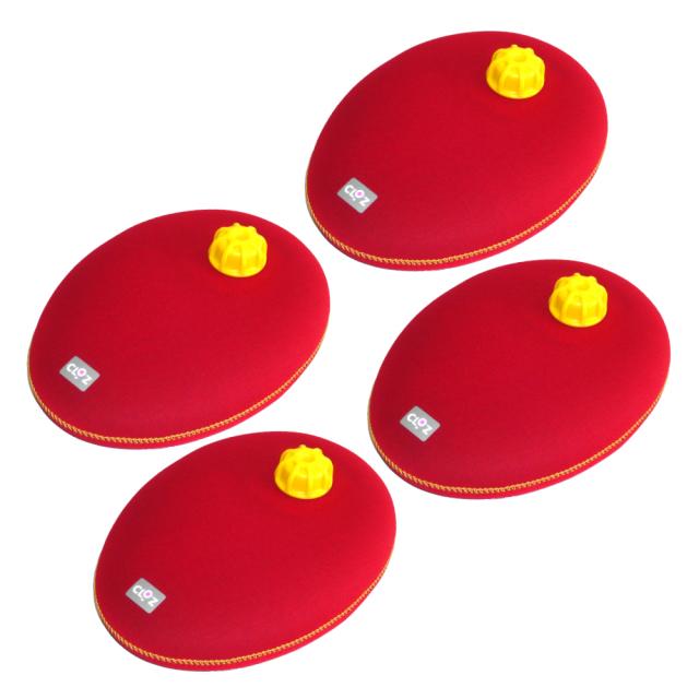 クロッツ やわらか湯たんぽ たまご型タイプ 4個 セット (ポケット型タイプ 1個/クロッツ やわらかボール ラグビーミニ 1個 付)