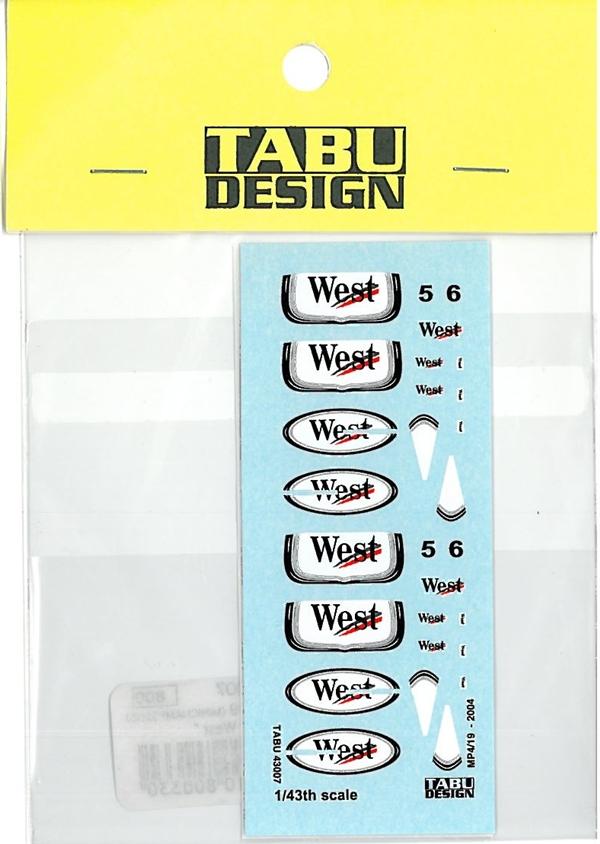 TABU43007 1/43 MP4/19 タバコデカール(HOT WHEEL社対応)