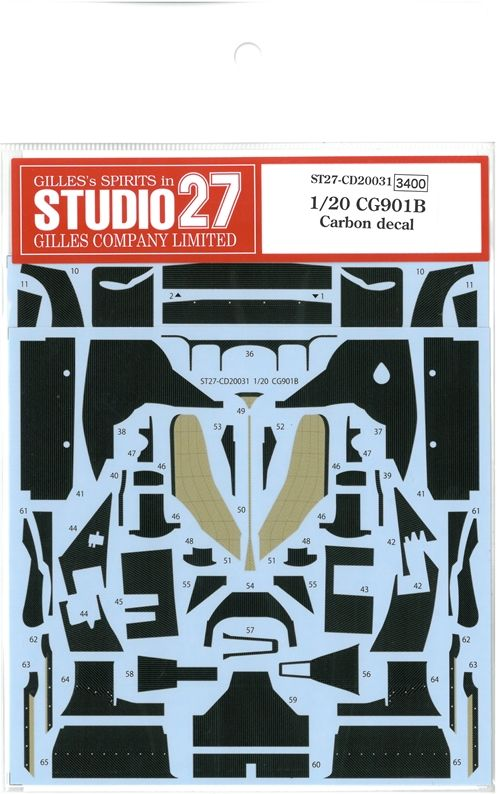 CD20031 1/20  CG901B   Carbon decal (T社1/20 CG901B対応)