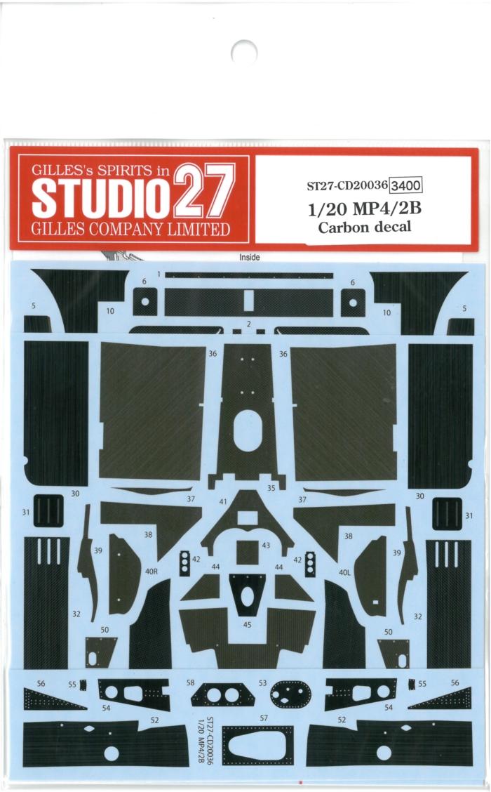 CD20036  1/20 MP4/2B (1985)  Carbon Decal (A社1/20 対応)