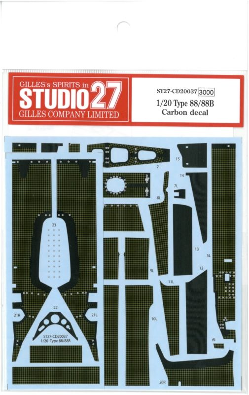 CD20037  1/20 Type88/88B Carbon decal(E社1/20 Type88.88B.1981対応)