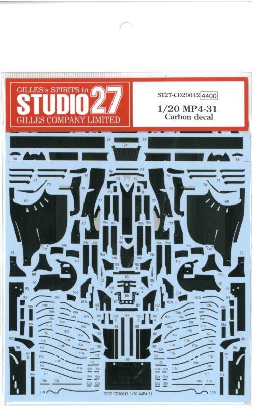 CD20042 1/20 MP4/31 Carbon decai (E社1/20 MP4/31(SpanishGP)対応