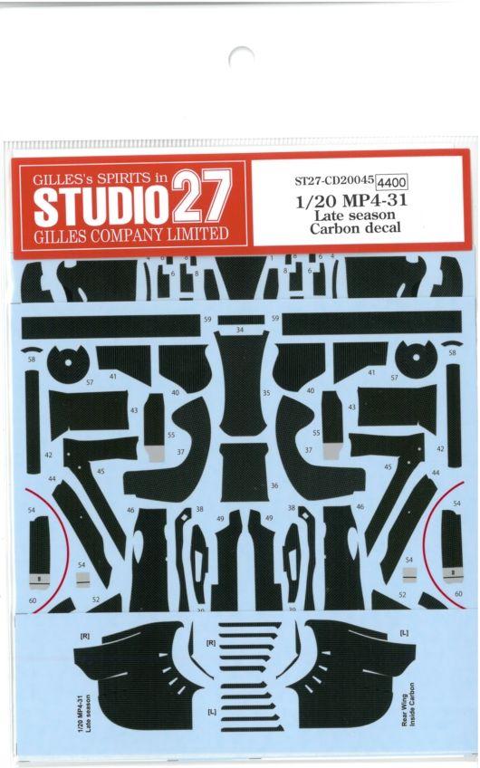CD20045 1/20 MP4-31 Late season Carbon decal (E社1/20MP4/31対応)
