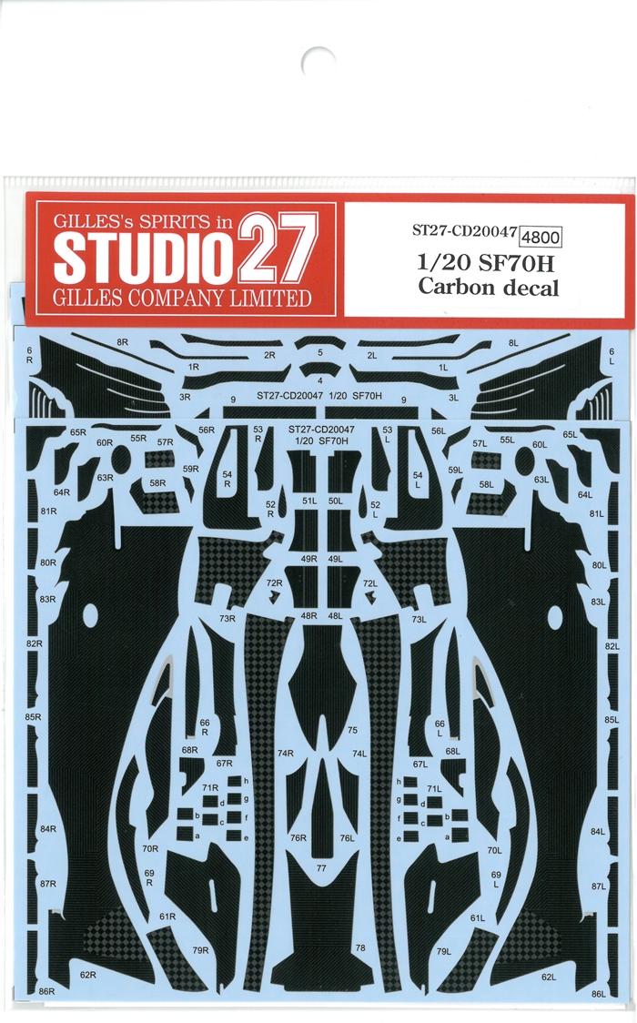 CD20047  1/20 SF70H  Carbon decal