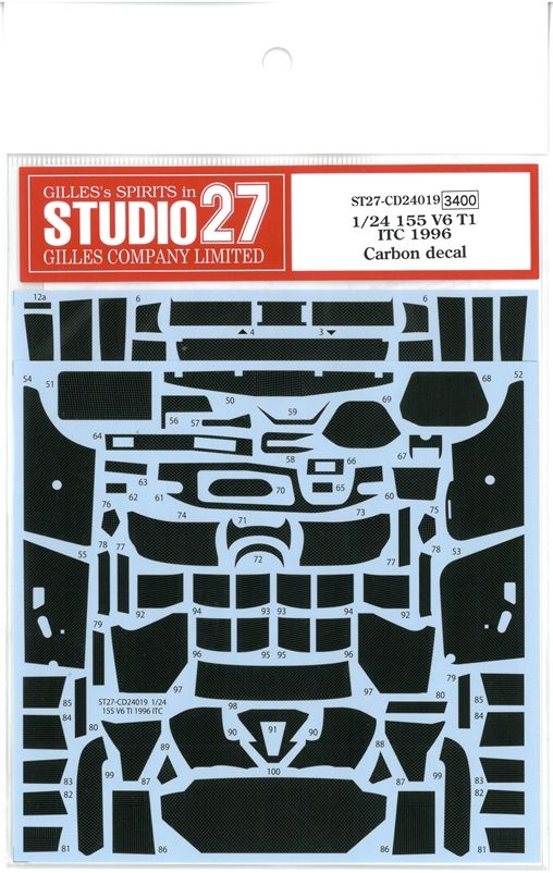 CD24019 1/24 155V6 T1 ITC 1996  Carbon decal  (T社1/24対応)
