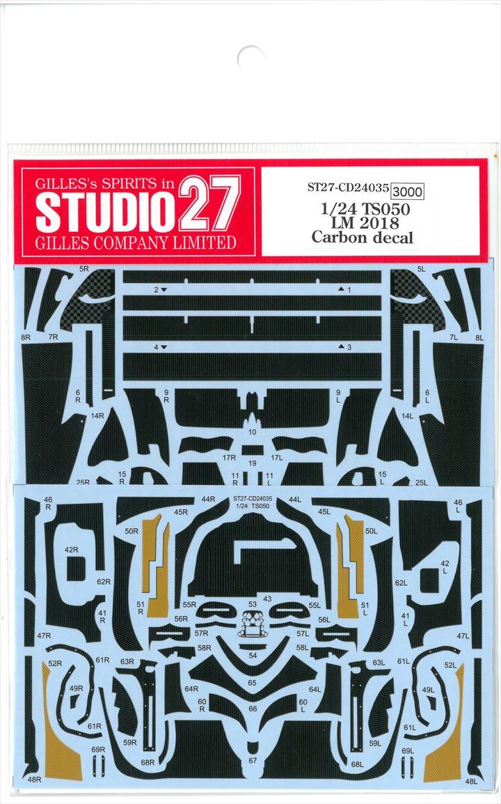 CD24035  1/24  TS050 LM2018  Carbon decal (T社1/24対応)