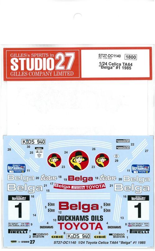"DC1140  1/24 Celica TA64 ""Balga"" #1 1985  (A社1/24 対応)"