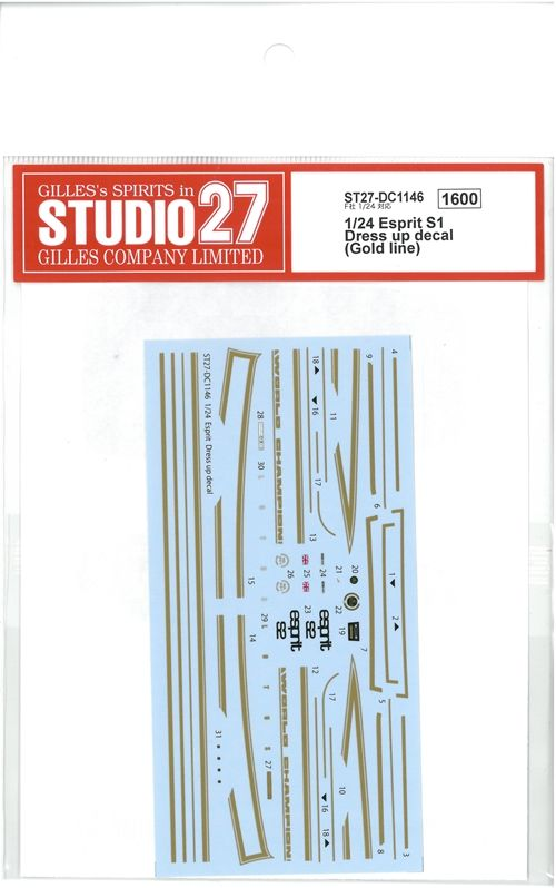 DC1146  1/24 Esprit S1 Dress up decal  (F社1/24対応)