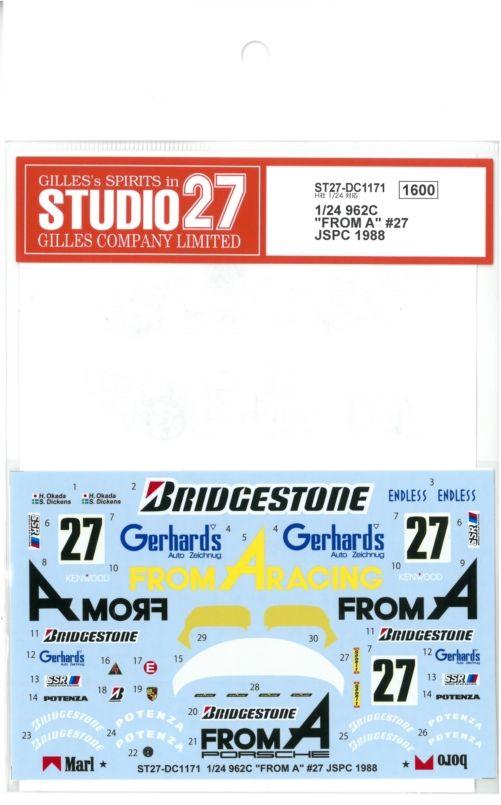 """DC1171  1/24  962C""""FROMA""""#27JSPC 1988   (H社1/24対応)"""