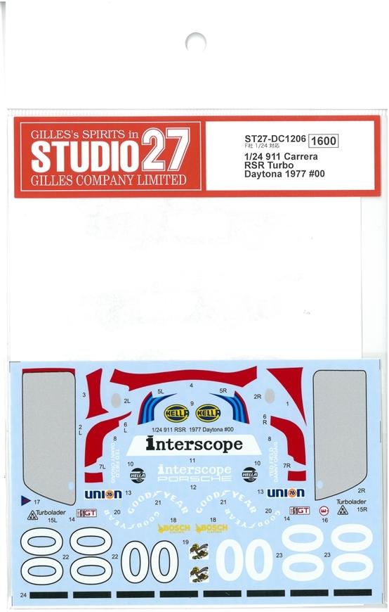 DC1206 1/24 911 Carrera RSR Turbo Daytona 1977 #00 (F社1/24対応)