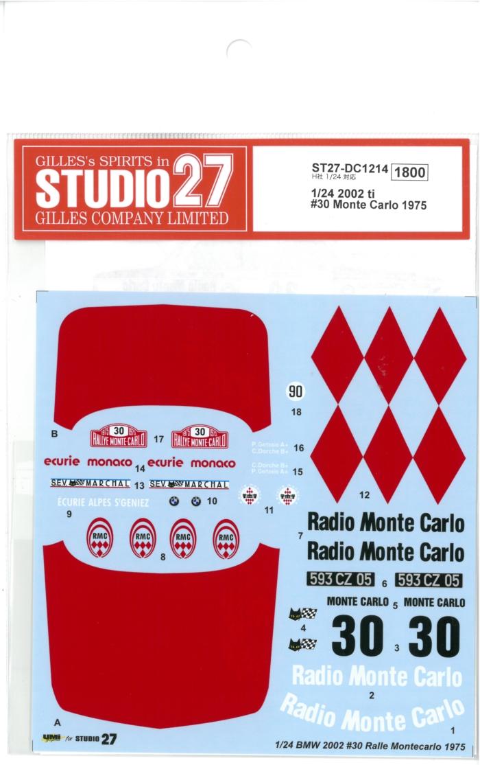 DC1214 1/24 2002TI #30 Monte Carlo 1975 (H社1/24対応)