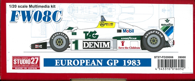 FD20006 FW08C EUROPEAN GP  1983 1/20 scale Multimedia kit
