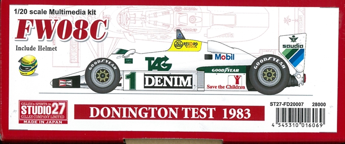 FD20007 FW08C  DONINGTON TEST 1983 1/20 scale Multimedia kit