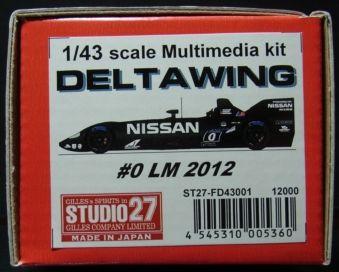 FD43001  DELTA WING #0 LM 2012  1/43scale Multimedia kit