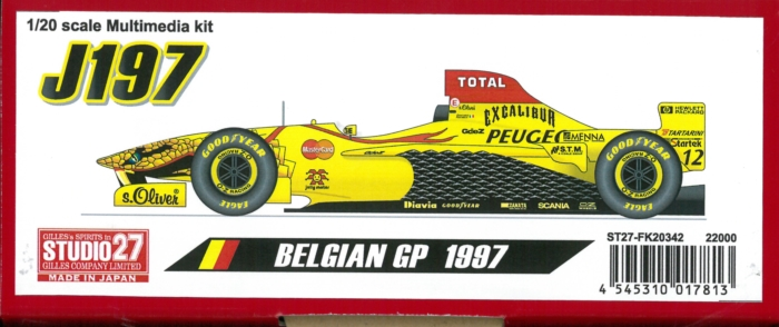 FK20342  J197 BELGIAN  GP 1997 1/20 scale Multimedia kit