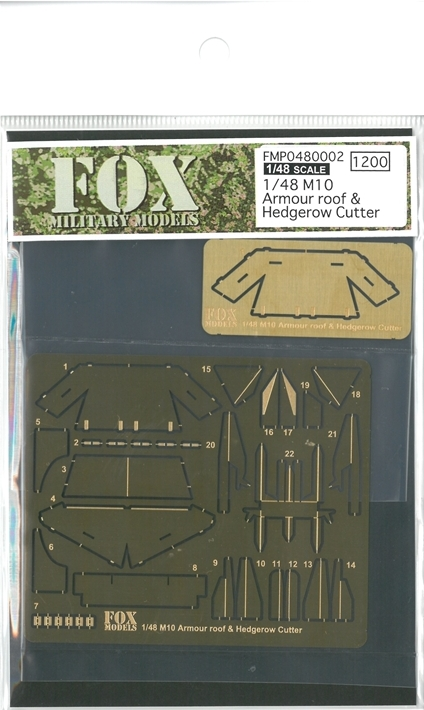 FMP0480002 1/48 M10 Armour roof&Hedberow Cutter (T社1/48 M10 llC対応)