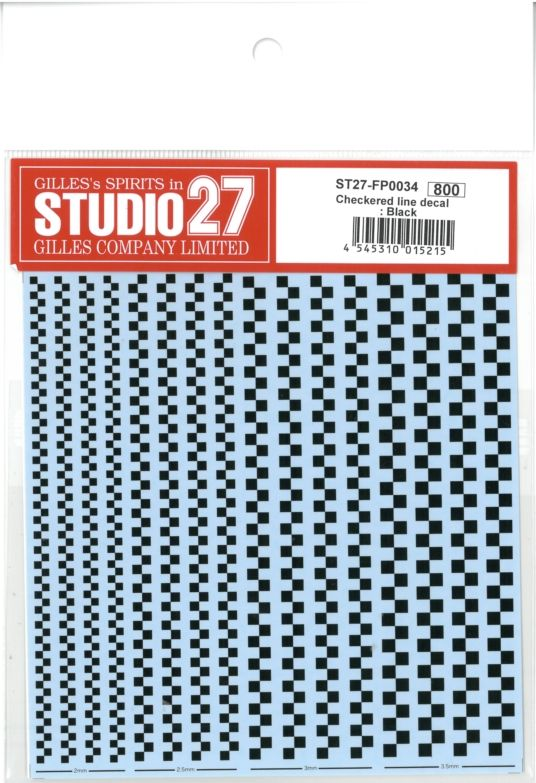 FP0034 Checkered Line decal : Black