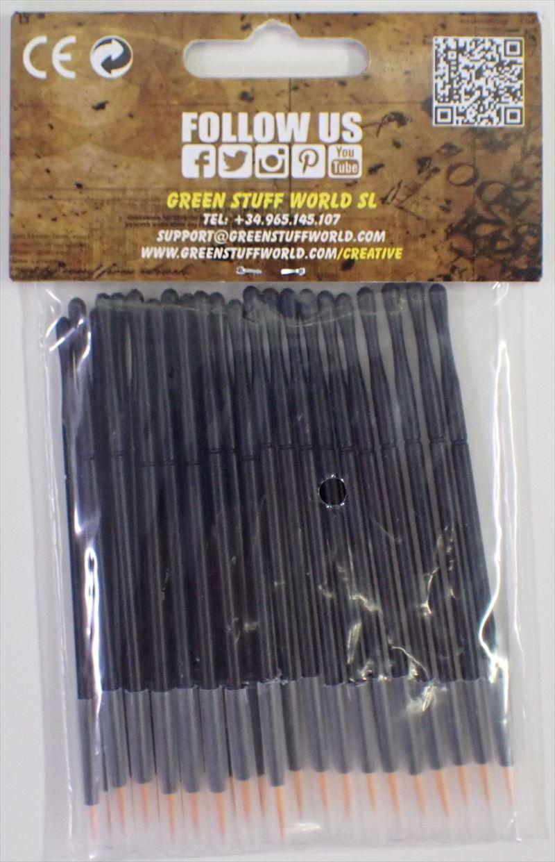 GSWD-2419 グリーンスタッフワールド 使い捨て式合成毛ブラシ(25個入り)