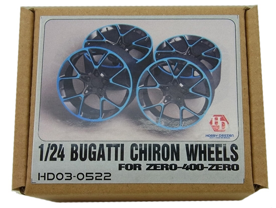 HD03-0522 1/24 BUGATTI CHIRON   WHEELS Zero-400-Zero