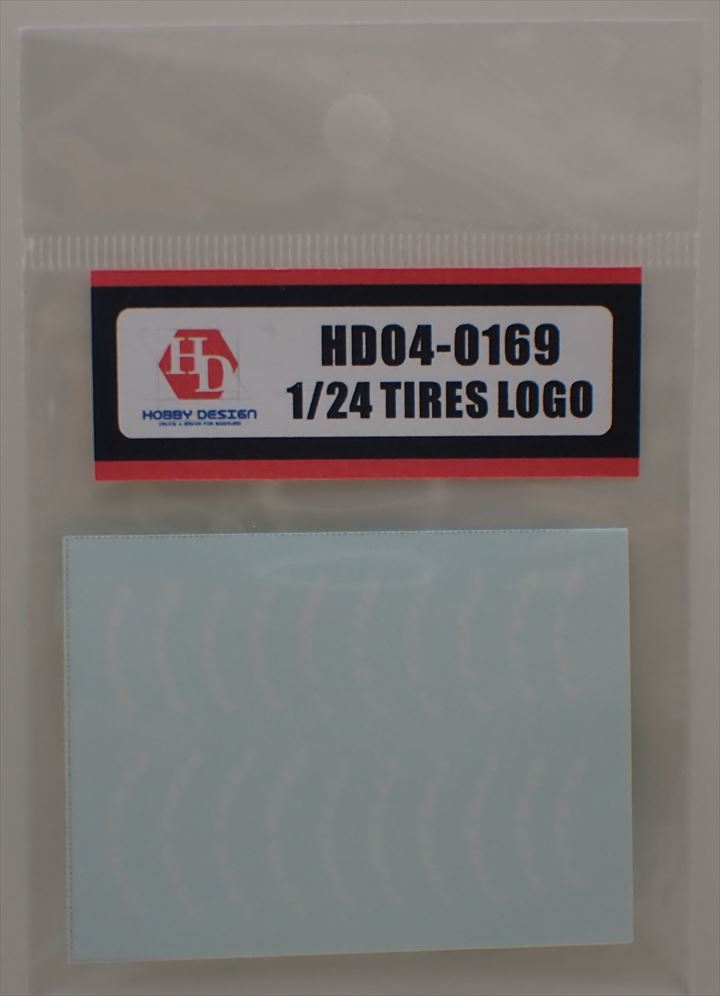 HD04-0169 1/24 TIRES LOGO Hobbydesign