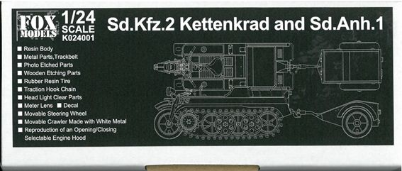 K024001 Sd.kfz.2 KettenKrad and Sd.Anh.1  1/24scale