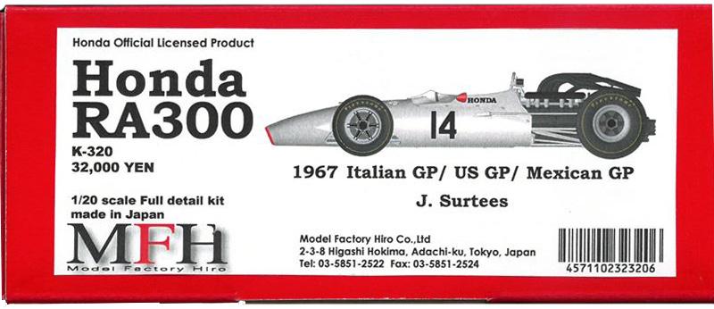 K320Honda  RA300  1/20scale Full datail kit