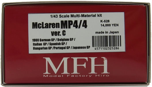 K528   【ver.C】  McLaren MP4/4  1/43scale Multi Material kit