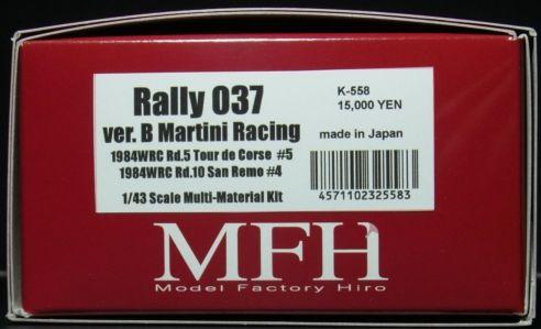 K558 【Ver.B】  Rally 037  Martini Racing 1/43scale Multi-Material Kit