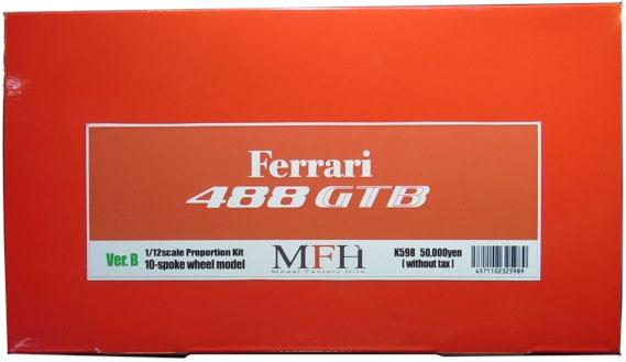 K598 (Ver.B) Ferrari 488 GTB 10-Spoke Wheel Model 1/12scale Proportion Kit