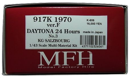 K606  917K (Ver.F) 1970 Daytona 24hours  1/43scale Multi-Material Kit