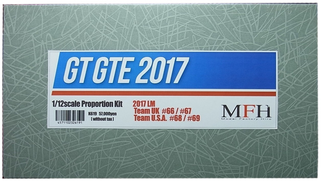 K619 GT GTE 2017 LM 24hours Race 1/12scale Proportion Kit