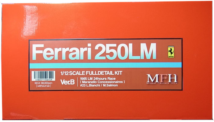 K654 (Ver.B)  Ferrari 250LM  1/12scale Fulldetail Kit