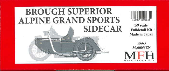 K663  Brough Superior AGS Sidecar 1937  1/9scale Fulldetail Kit