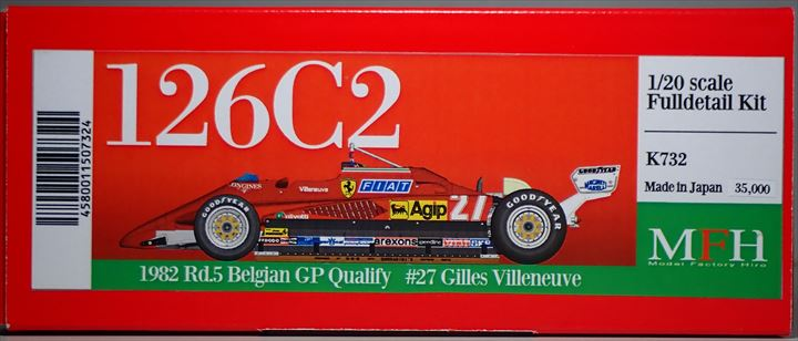 K732  126C2 1982 Rd.5 BelgianGP Qualify  1/20scale Fulldetail Kit