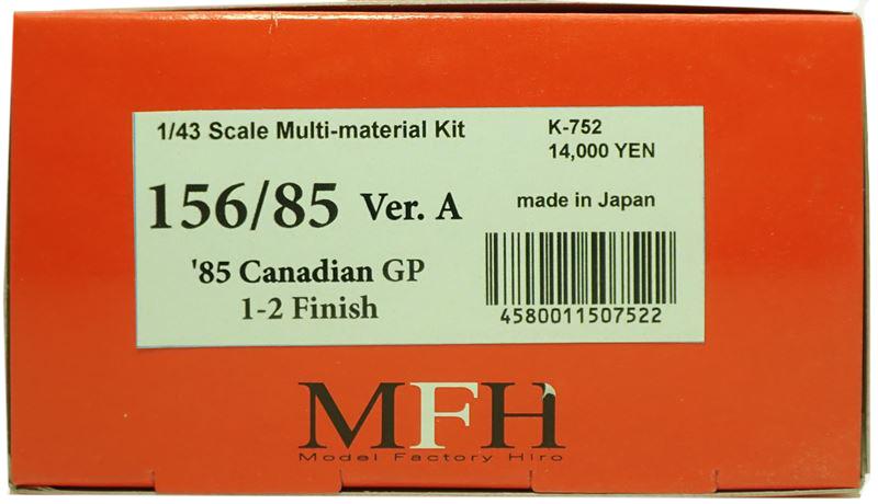 K752 【Ver.A】 156/85: 1985 Rd.5  1/43sacle Multi-Material Kit