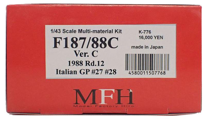 K776 【Ver.C】 F187/88C 1988 Rd.12  1/43sacle Multi-Material Kit